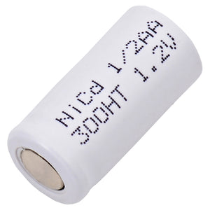 Image of 1/2AA NiCd 1.2 VOLT 300mAh Industrial battery