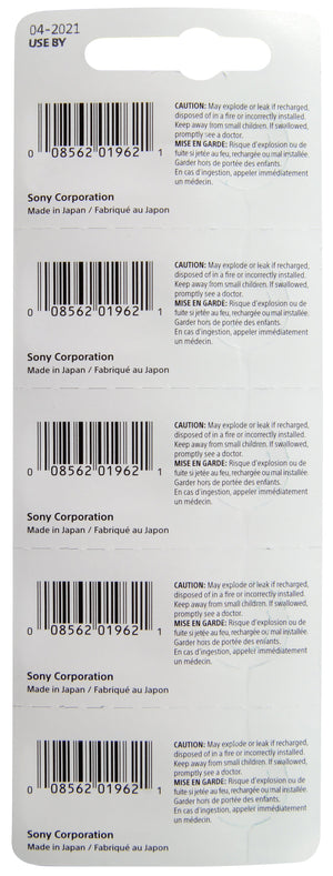 Image back of Sony 364 single in package