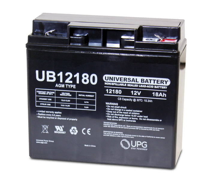 Sealed Lead Acid Batteries/AMG UB12180 SLA Battery 12V 18Ah / Terminal F2 - 40648