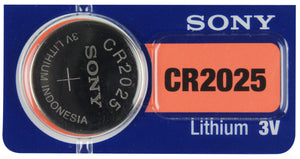 Image front of Sony CR2025 single in package