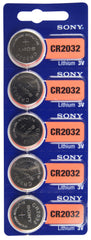 Sony cr2032 2032 lithium coin cell 5 pack energizer 2032 ecr2032 duracell dl2032 rayovac varta panasonic cr2032 seiko