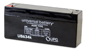 Image of SLA Battery UB634 6V 3.4Ah