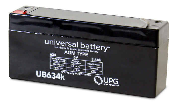 Sealed Lead Acid Batteries/AMG UB634 SLA Battery 6V 3.4Ah / Terminal F1 - D5732