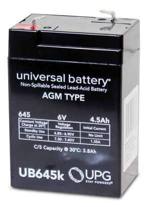 Image of SLA Battery UB645 6V 4.5Ah