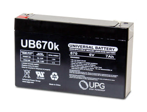 Image of SLA Battery UB670 6V 7Ah