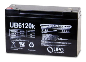 Image of SLA Battery UB6120 6V 12Ah