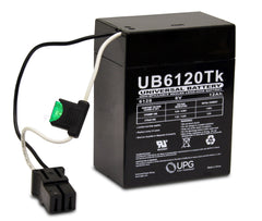 UPG® UB6120 6120 TOY 6V / 12Ah Sealed Lead Acid Battery with P2 Terminals - UB6120 TOY D5737