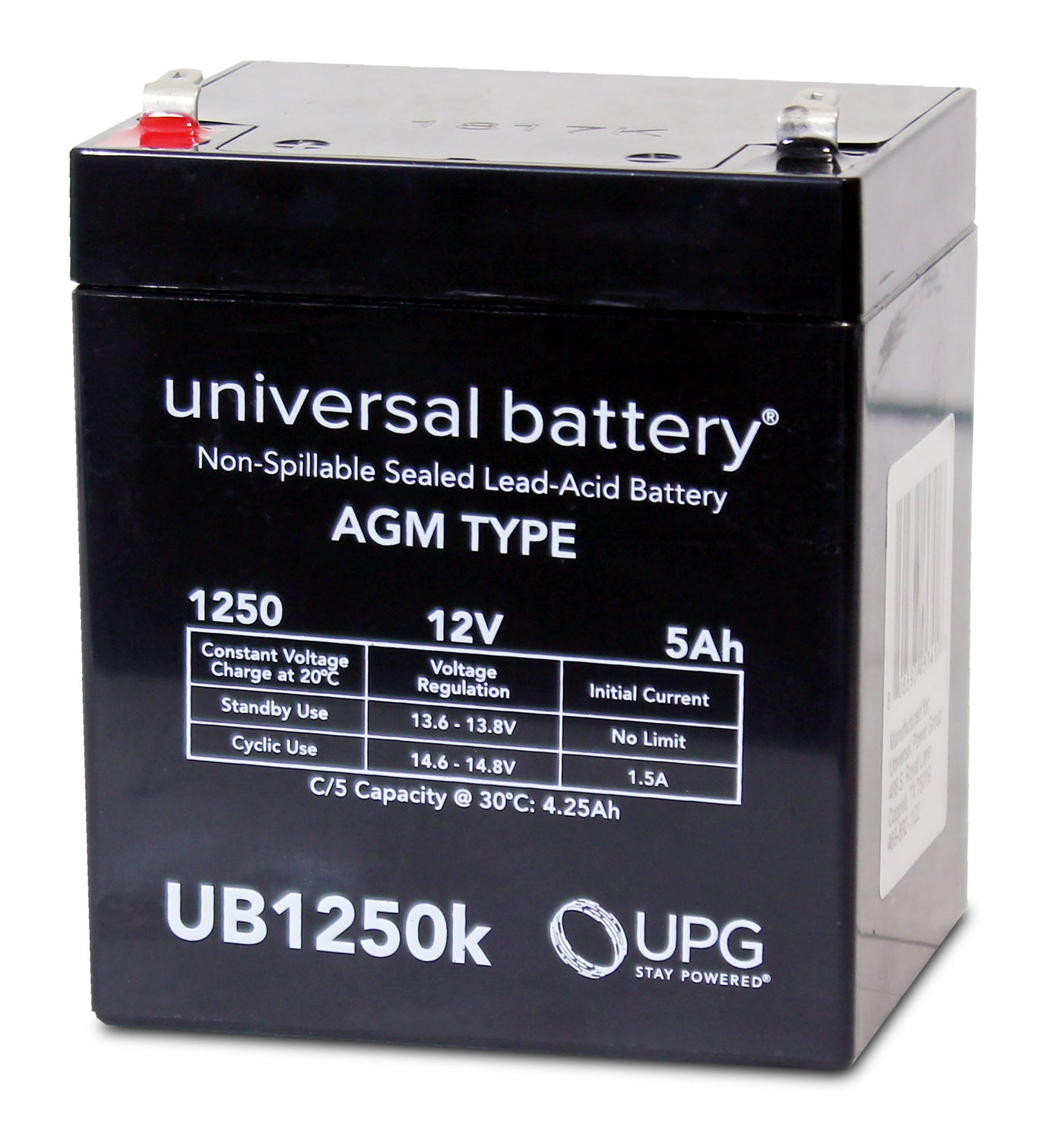 12v 5ah Battery >> Sealed Lead Acid Batteries Amg Ub1250 Sla Battery 12v 5ah Terminal F1 D5741