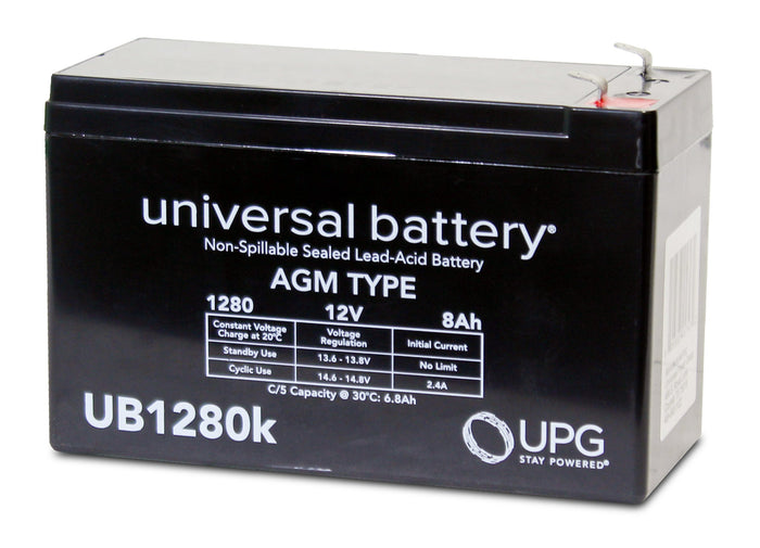 Sealed Lead Acid Batteries/AMG UB1280 SLA Battery 12V 8Ah / Terminal F1 - D5743
