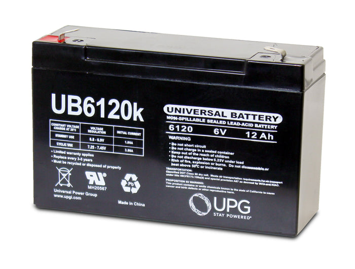 Sealed Lead Acid Batteries/AMG UB6120 SLA Battery 6V 12Ah / Terminal F2 - D5778