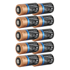 Duracell Ultra DL123A 3V Lithium Battery (AKA: CR123, CR123A, PL123, EL123, 123) 10-Pack