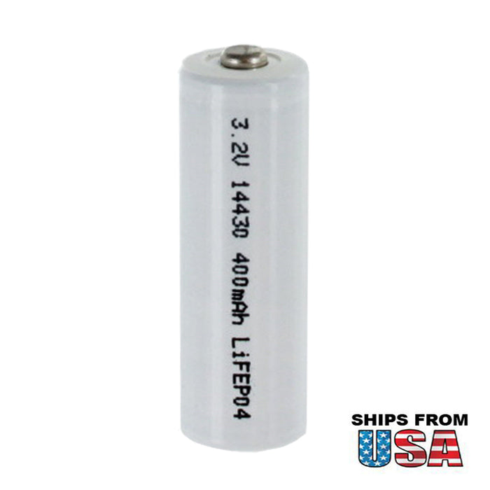 LiFePO4 Lithium Iron Phosphate 3.2V 400mAh 14430 Rechargeable Battery