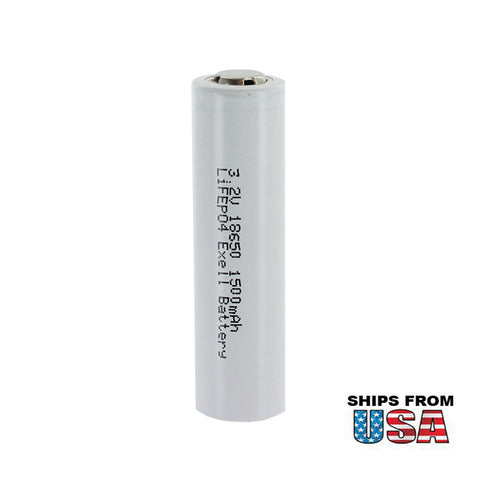 LiFePO4 Lithium Iron Phosphate 3.2V 1500mAh 18650 Rechargeable Battery