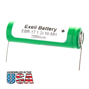 Image of Razor Battery EBR-17 For Braun 155 2505 5415 5564 Razors