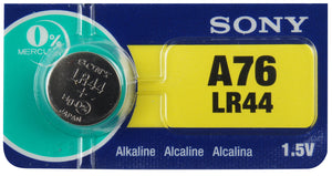 Image front of Sony LR44 single in package