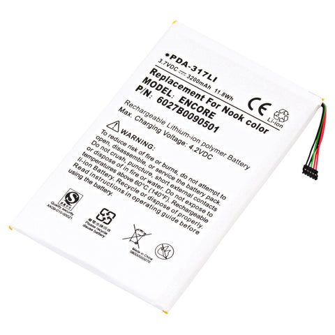 Barnes & Noble Nook eReader Compatible Li-Po Battery - DA PDA-317LI
