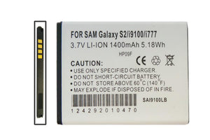 Image of Samsung Samsung Galaxy S II i9100 I777 Cell Phone Compatible Li-Ion Battery