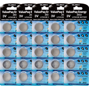 ValuePaq energy cr2032 2032 lithium coin cell 25 pack replaces energizer 2032 ecr2032 duracell dl2032 rayovac varta cr2032 seiko sb t51