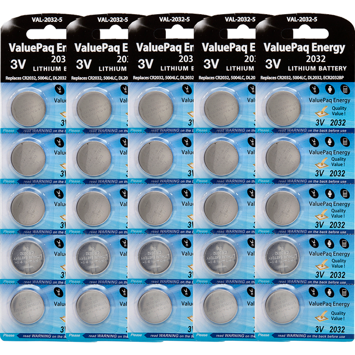 ValuePaq Energy 2032 UL2032 Lithium Coin Cell 25 pack - CR2032