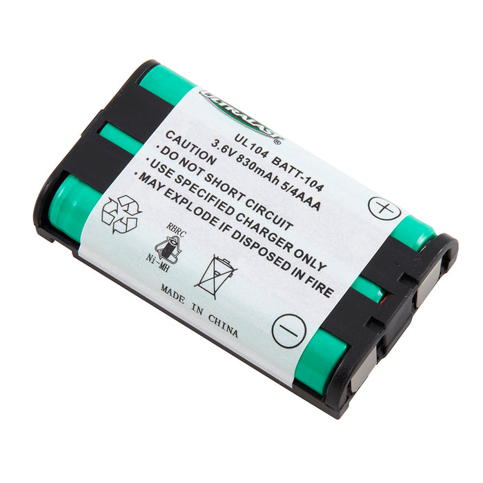 Panasonic HHR-P104 Jensen Compatible JTB104 Cordless Phone Compatible NiMh Battery - EBCP-104 Replaces Panasonic HHR-P104