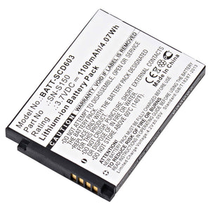 Image of Baby Monitor Battery BATT-SCD603 Replaces Philips - SN-S150