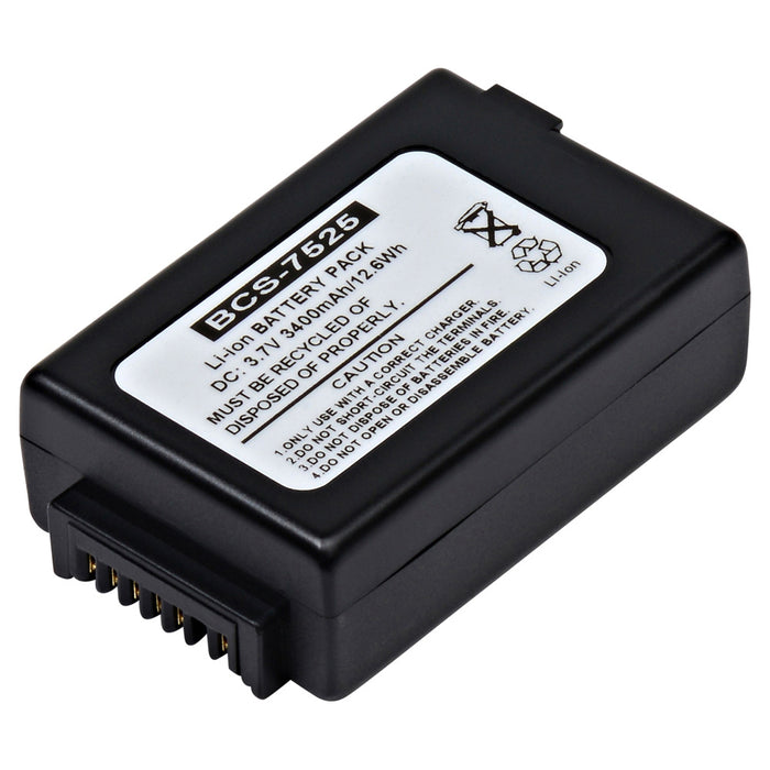 Barcode Scanner Battery BCS-7525 Replaces Psion - 1050192-002