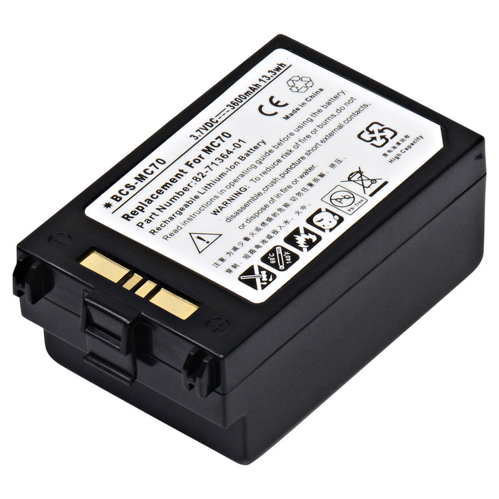 Barcode Scanner Battery BCS-MC70 Replaces Symbol - 82-71363-01