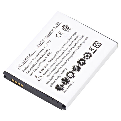 Cell Phone Battery CEL-ADR910L Replaces Empire - BLI-1346-1.5, Pantech - BTR910B