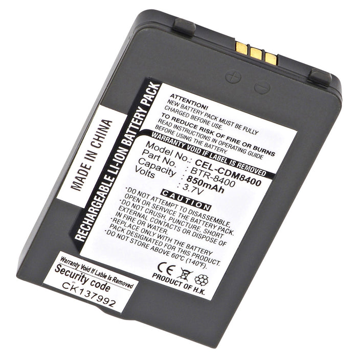 Cell Phone Battery CEL-CDM8400 Replaces Audiovox - BTR8400, Interstate - CEL0042