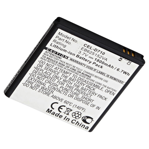 Cell Phone Battery CEL-D710 Replaces Radio Shack - EB625152VA