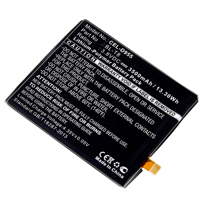 Cell Phone Battery CEL-D955 Replaces LG - BL-T8