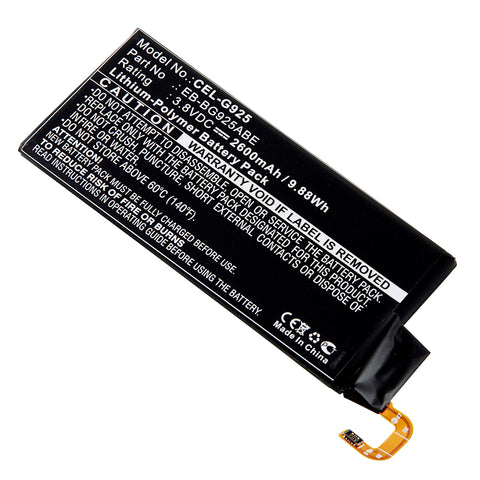 Cell Phone Battery CEL-G925 Replaces Samsung - EB-BG925ABE