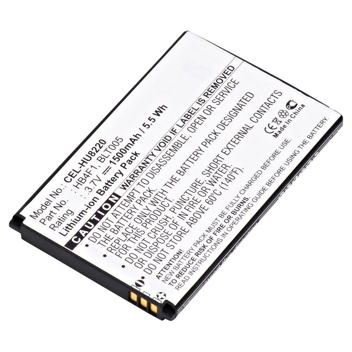 Cell Phone Battery CEL-HU8220 Replaces Huawei - BLT005