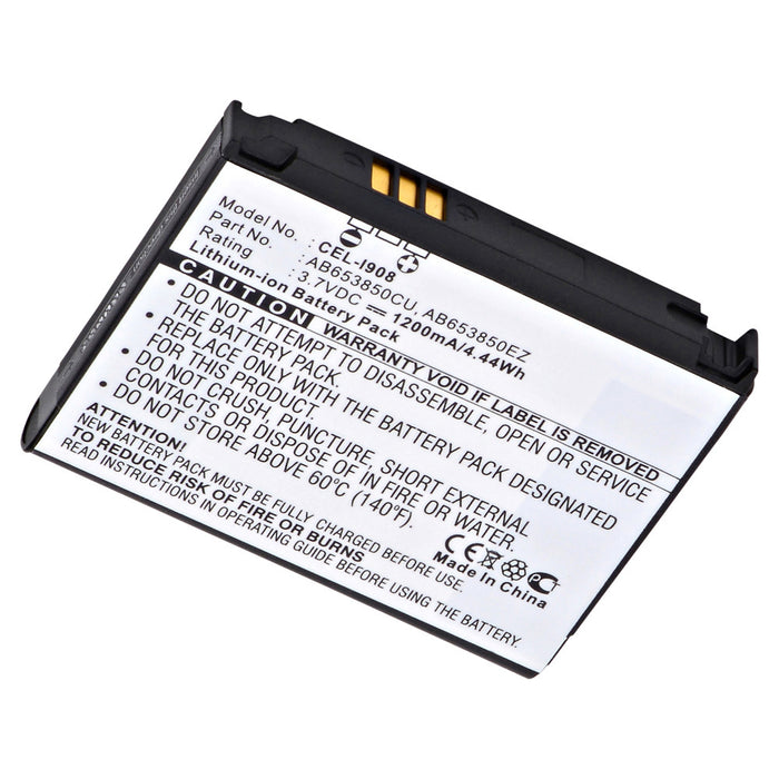 Cell Phone Battery CEL-I908 Replaces Samsung - AB653850CE