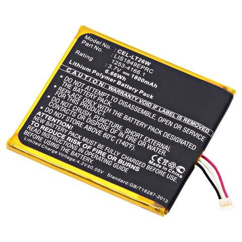 Cell Phone Battery CEL-LT26W Replaces Sony - 1253-4166.1