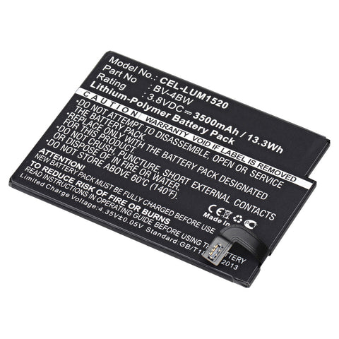 Cell Phone Battery CEL-LUM1520 Replaces Nokia - BV-4BW