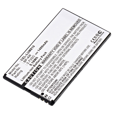 Cell Phone Battery CEL-LUM810 Replaces Nokia - BP-4W