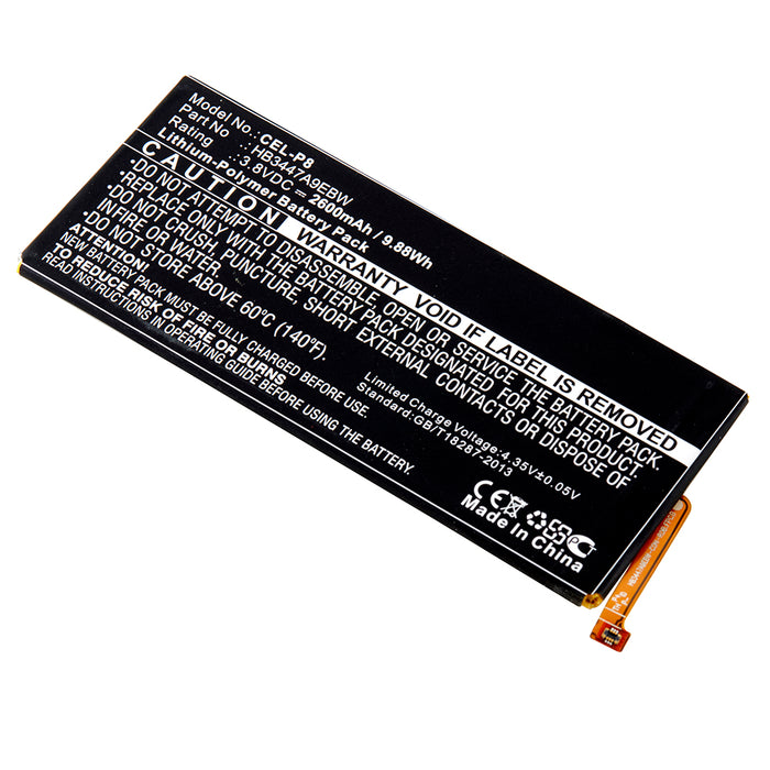 Cell Phone Battery CEL-P8 Replaces Huawei - HB3447A9EBW