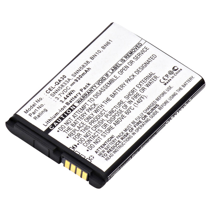 Cell Phone Battery CEL-QA30 Replaces Motorola - SNN5837