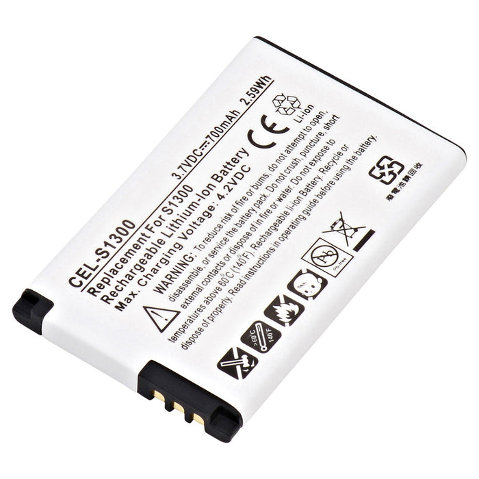 Cell Phone Battery CEL-S1300 Replaces Kyocera - TXBAT10182