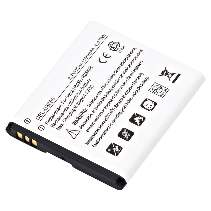 Cell Phone Battery CEL-U8650 Replaces Huawei - HB5K1H