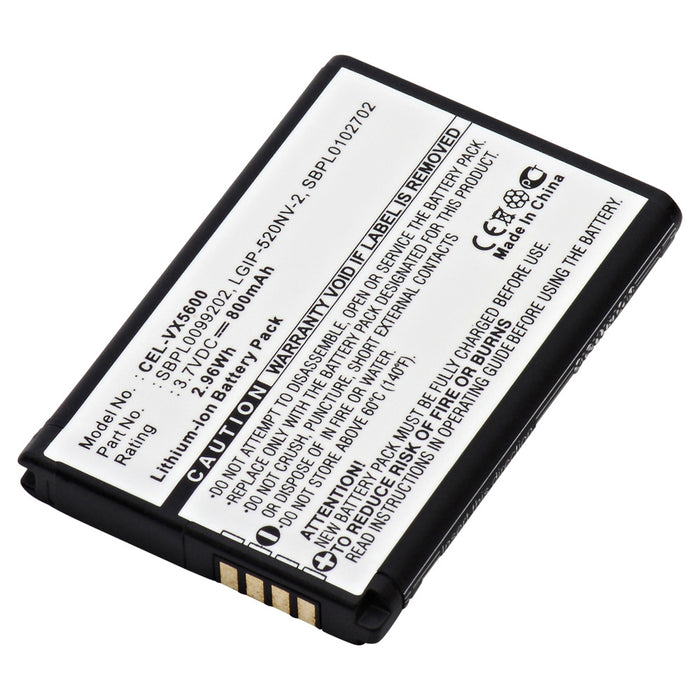 Cell Phone Battery CEL-VX5600 Replaces LG - LGIP-520NV