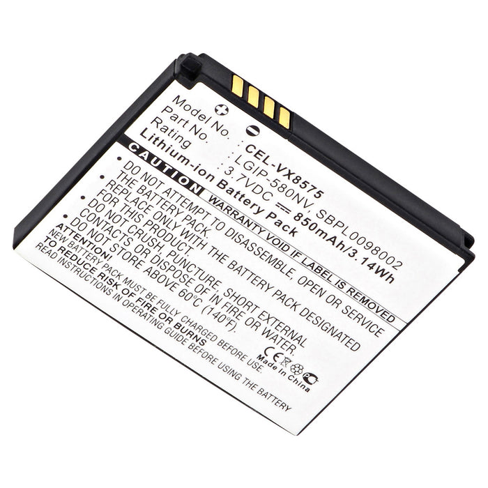 Cell Phone Battery CEL-VX8575 Replaces LG - LGIP-580NV