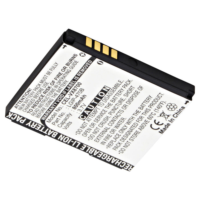 Cell Phone Battery CEL-VX8700 Replaces LG - 3110-VX8700A-BAT-IN