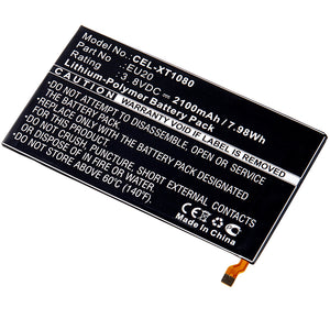 Image of Cell Phone Battery CEL-XT1080 Replaces Motorola - SNN5925A