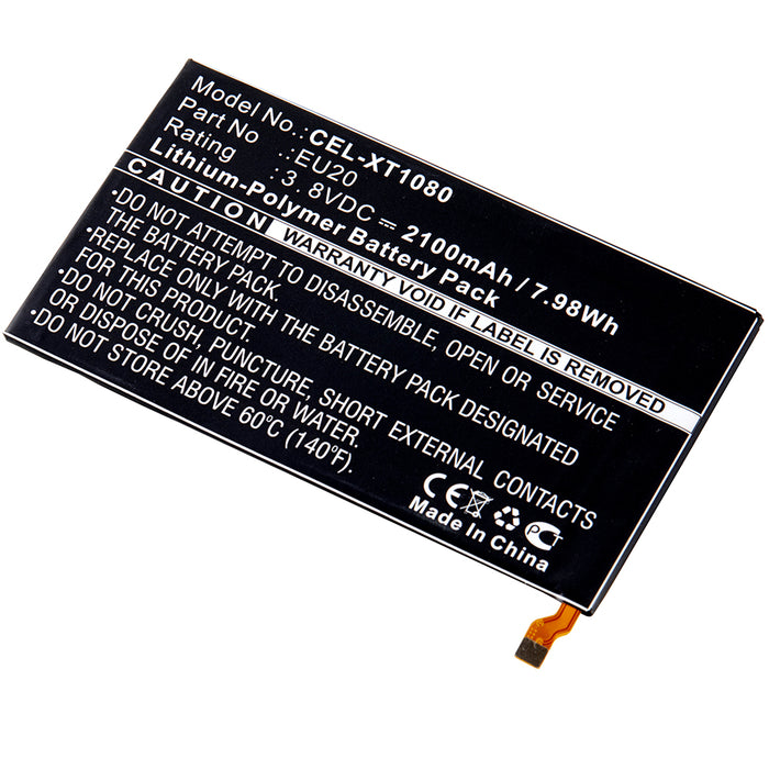 Cell Phone Battery CEL-XT1080 Replaces Motorola - SNN5925A