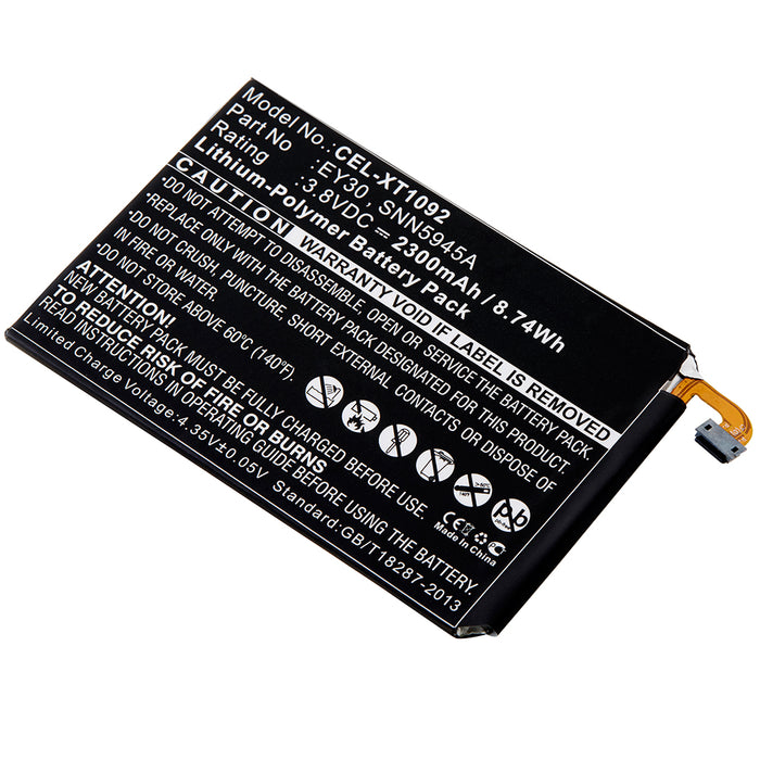 Cell Phone Battery CEL-XT1092 Replaces Motorola - SNN5945A