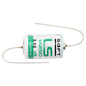 Image of SAFT LS14250 AX | 3.6V | 1/2 AA Lithium Battery With Axial Leads | LS-14250-AX LITHXL-050F-AX | LITHLS14250BA