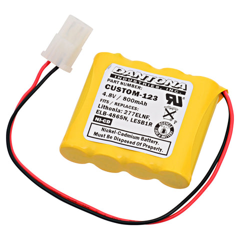 Emergency Lighting Battery CUSTOM-123 Replaces Interstate - NIC0546, Lithonia - 277ELNF