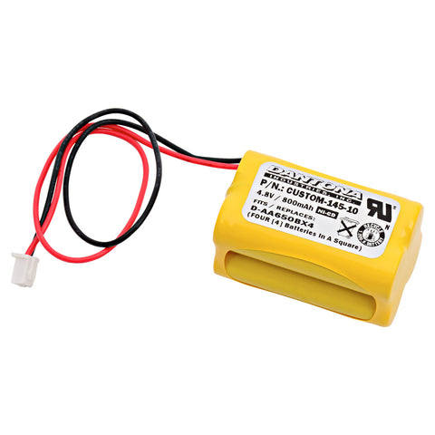 Emergency Lighting Battery CUSTOM-145-10 Replaces All Fit - EJW-NICAD, Interstate - NIC1117